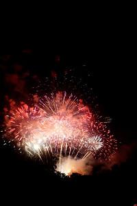 Fireworks in a dark sky, #4