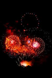 Fireworks in a dark sky, #1