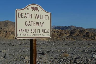 Death Valley Gateway Marker