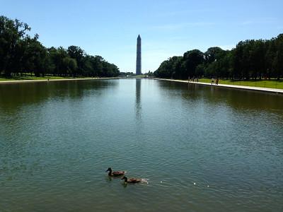 Reflection Pool reflecting the Washington Monument