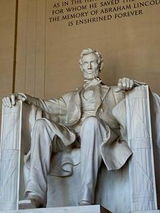 Abraham Lincoln inside the memorial
