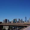 Wall Street depuis le pont de Brooklyn