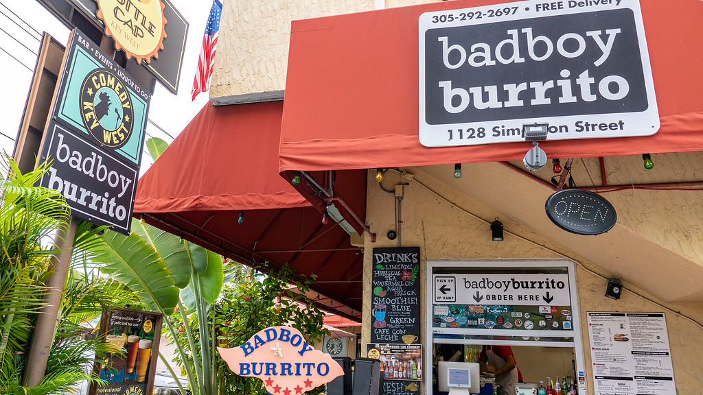 Bad Boy Burrito Key West - Fast food with vegan options in Key West Florida - Vegan Key West restaurant guide