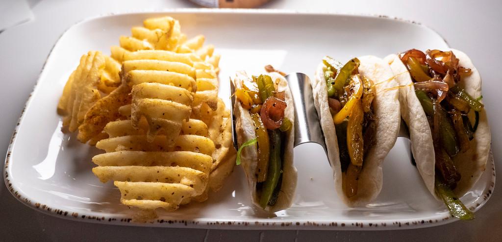 Vegan tacos at the Tiki Bar & Raw Bar (Postcard Inn) Islamorada
