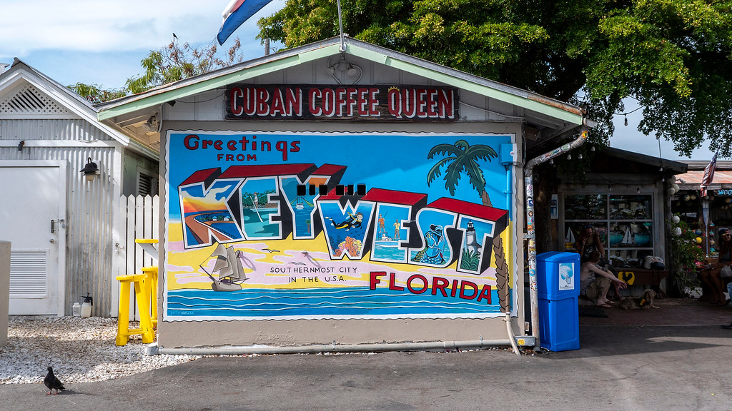 Key West mural at Cuban Coffee Queen