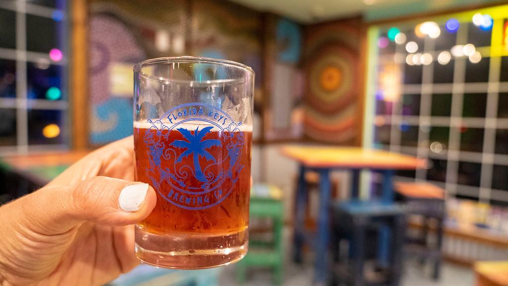 Driving the Florida Keys: Florida Keys Brewing Company beer flight