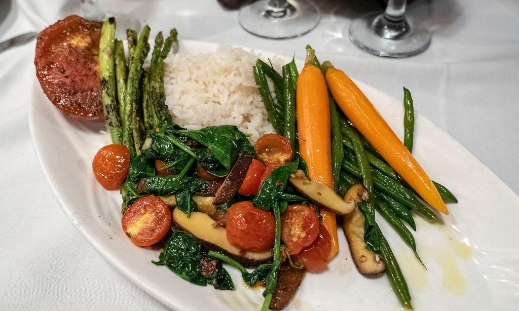 Vegetarian Plate at Chef Michael's Islamorada