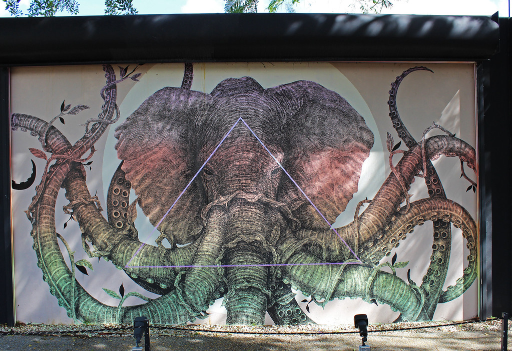 Wynwood Walls Miami: Wynwood Doors elephant mural