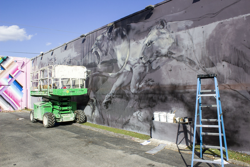 Wynwood Walls Miami: Street Art in the Making, Partially Finished