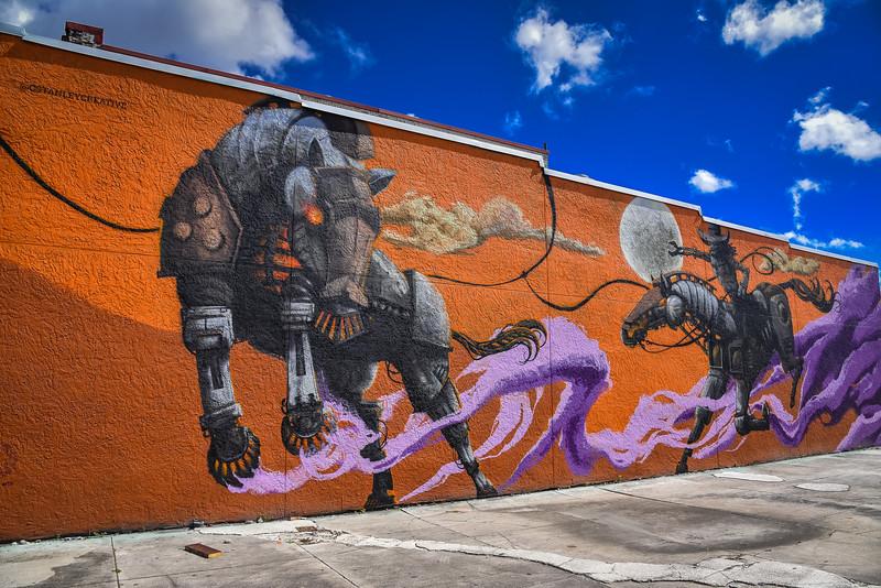 iron horse kissimmee street art