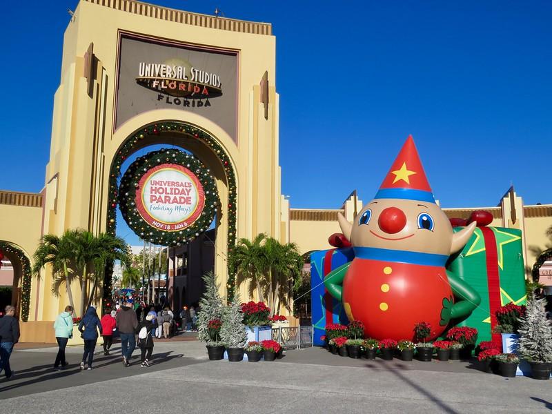 Universal Studios Orlando at Christmas