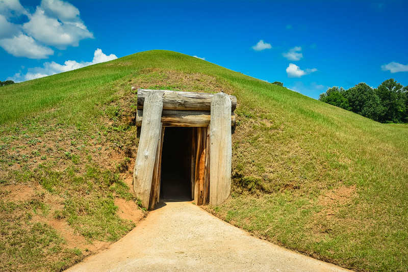 earth lodge ocmulgee national monument