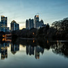Atlanta Skyline at Dusk from Piedmont Park, Atlanta, Georgia