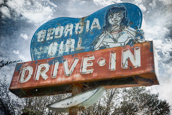 Georgia Girl Drive In Sign, Woodbine, Georgia