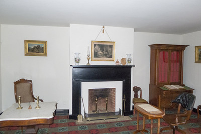 Appomattox, VA Surrender House - General Lee sat at the table on the left and General Grant sat at the table on the right.