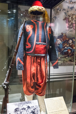 Washington, D.C. Smithsonian American Art Museum - Zouave was the title given to certain light infantry regiments in the French Army. The name was also adopted by volunteer regiments raised for service in the American Civil War.