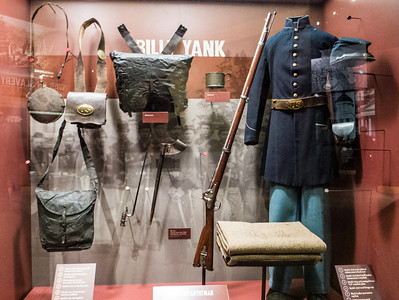Gettysburg, PA - Military gear of Union soldiers.