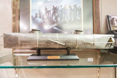 Appomattox, VA Museum of the Confederacy - Model of the Confederate Huntley submarine