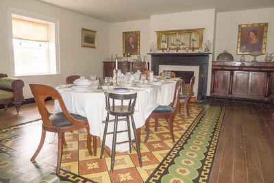 Appomattox, VA Surrender House - McLean house dining room.