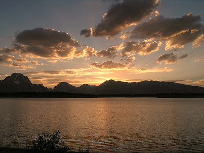 Sunset over the Grand Teton Mountains