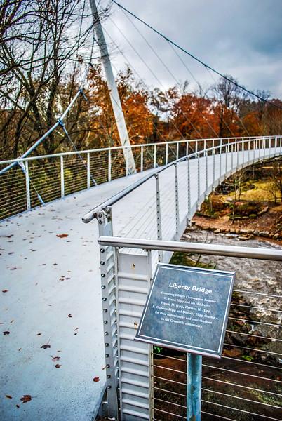 downtown greenville liberty suspension bridge