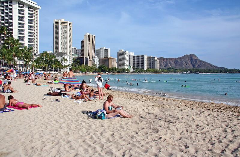 1649 - Waikiki Beach & Diamond Head