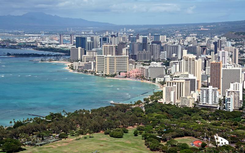 1605 - Waikiki from Diamond Head