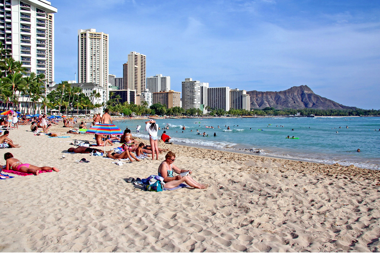 1649 - Waikiki Beach & Diamond Head