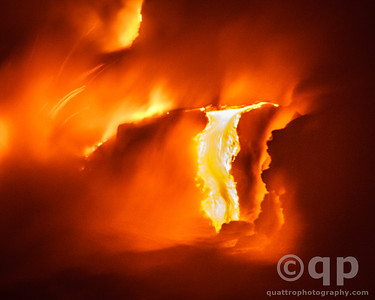 LAVA ENTERS OCEAN