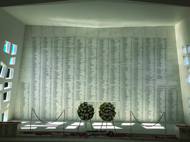 uss arizona marble wall