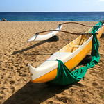 Outrigger Canoe at Hulopoe Bay – Lanai, Hawaii – Daily Photo