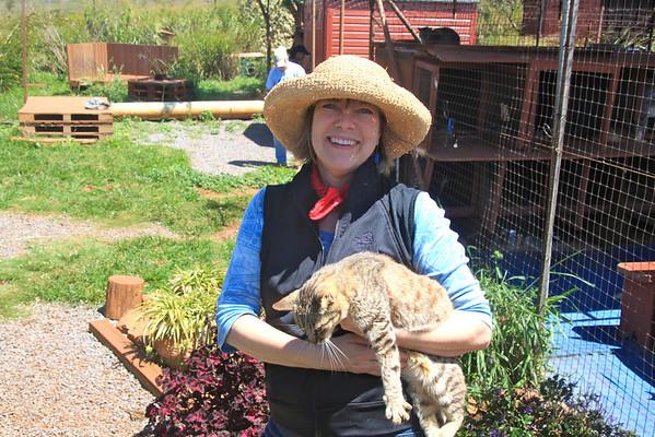 Kathey Carroll at the Lana'i Animal Rescue Center