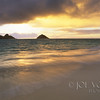 Moku-lua Islands, Kailua Beach, Windward side of Oahu, Hawaii