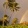Rainbow over Mountain, Kailua Beach, Oahu, Hawaii