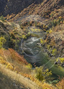 Lowman Idaho Grass River Valley Forest Tree Blue Modern Art Prints Stock Images Shore - 022271 - 09-10-2017 - 7870x10970 Pixel