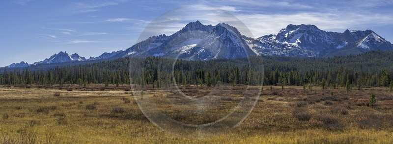 Stanley Idaho Williams Peak Mountain Grass Valley Forest Pass Winter Fine Art Photos Fine Art Photo - 022256 - 09-10-2017 - 20390x7459 Pixel