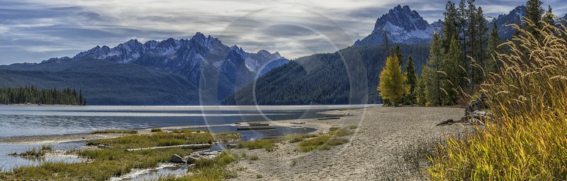 Stanley Idaho Redfish Lake Mountain Grass Valley Forest Stock Photos Fine Art Printing Town Snow - 022249 - 09-10-2017 - 21367x6815 Pixel
