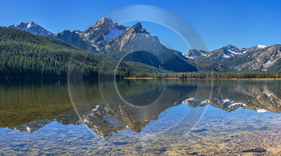 Stanley Idaho Lake Mountain Grass Valley Forest Sunshine Modern Art Prints Animal - 022268 - 09-10-2017 - 24481x13653 Pixel