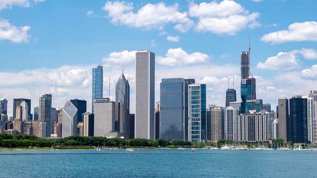 Skyline of Chicago, Illinois - Home Base for Frequent Travelers