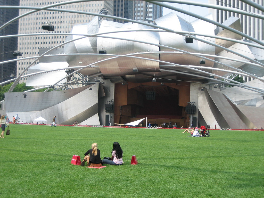 Jay Pritzker Pavilion in Millenium Park - Chicago, Illinois