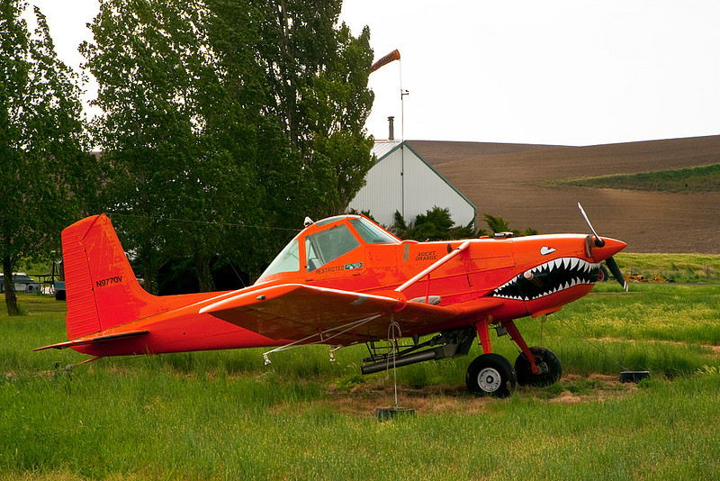 Crop Duster - named Agent Orange, near Pullman, WA. Someone has a sense of humour