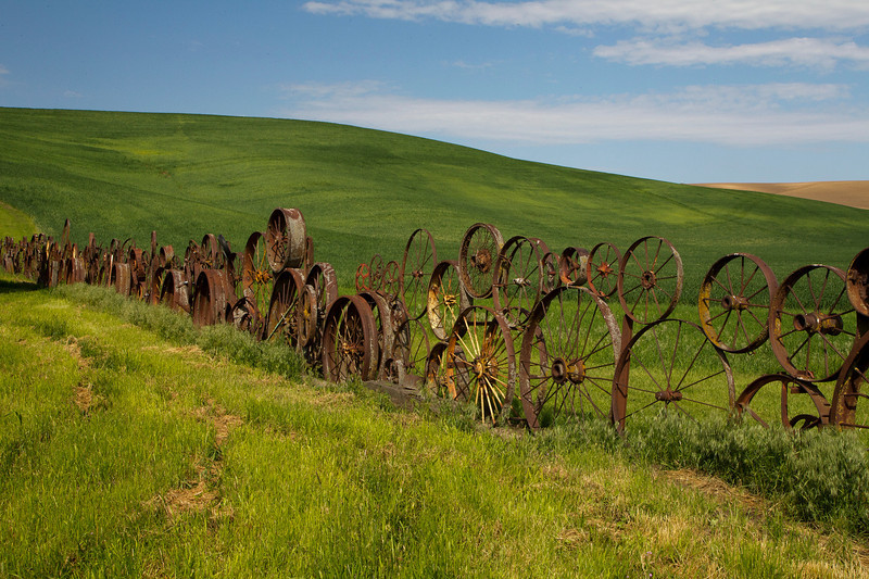A Scene of the famous Wheel Fence at Uniontown WA