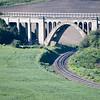 Abandoned Railway Brige, no longer in use strides another rail line near Rosalia Washington.