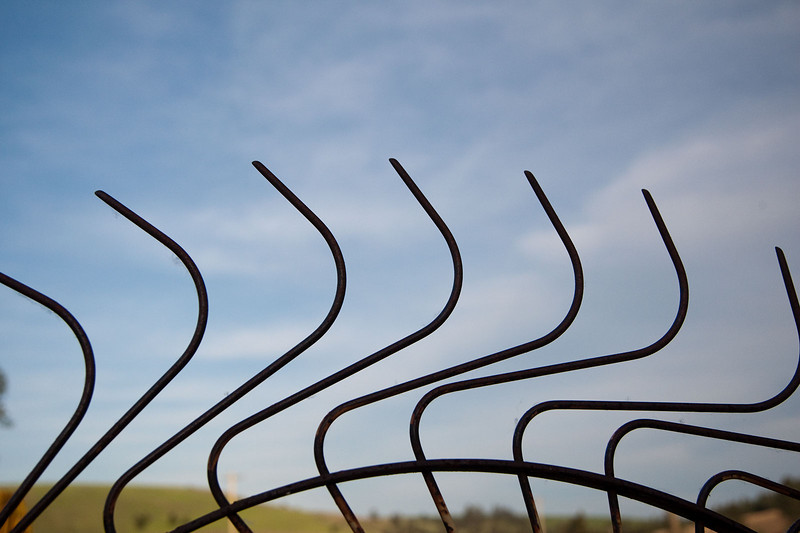 An abstraction from a set of abandoned Hay rakes, found on a farm in the Palouse