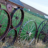 Image of the Wheel fence at Uniontown, WA