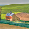 A small barn catches early morning light in the Palouse region, SE Washington.