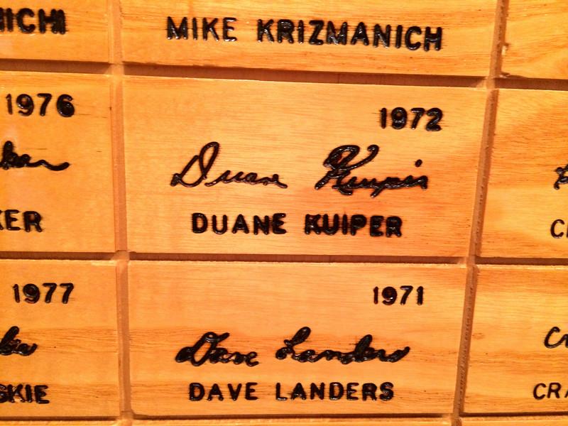 Duane Kuiper - Louisville Slugger Museum / Factory