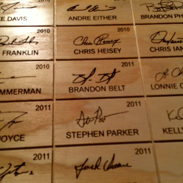 Brandon Belt - Louisville Slugger Museum / Factory