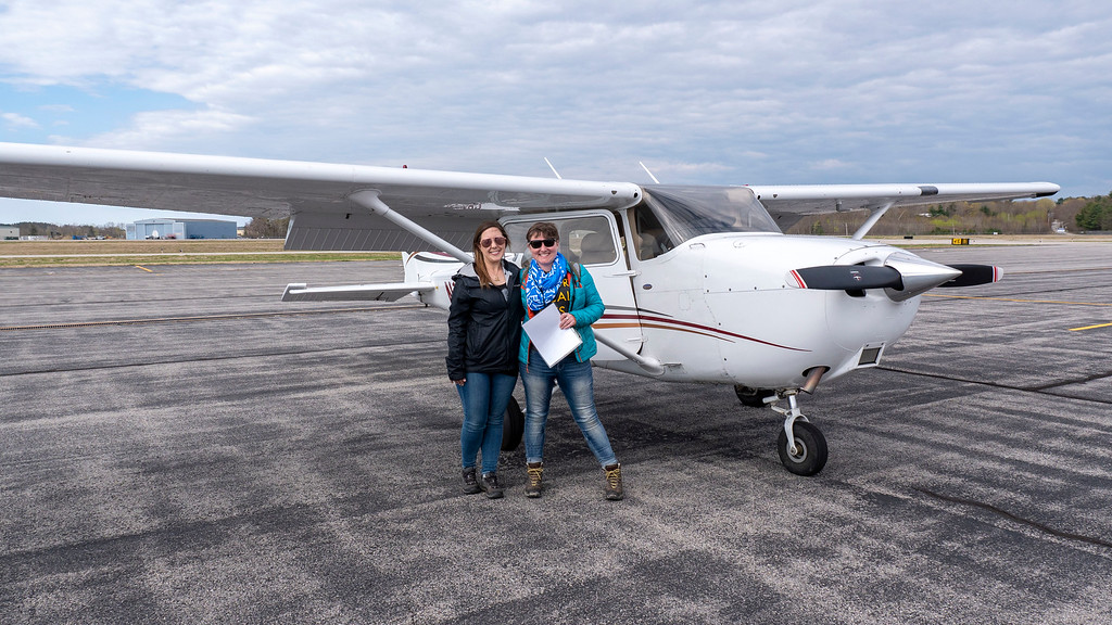 Maine Beaches: Scenic flight with Southern Maine Aviation at Sanford Airport