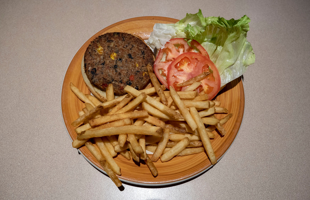 Veggie Burger at Mike's Clam Shack